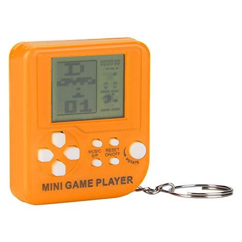 Hakeeta Mini Game Player, Console di Gioco Portatile palmare Giocatori Toys 26 Giochi integrati con Portachiavi Buon Regalo per Bambini (Trasparente/Nero/Rosso/Arancione).(Arancia)