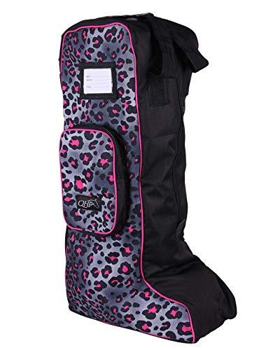 QHP Reitstiefel-Tasche Stiefeltasche Collection Trendige Farben Sommer 2019 (L, Pink Leopard)