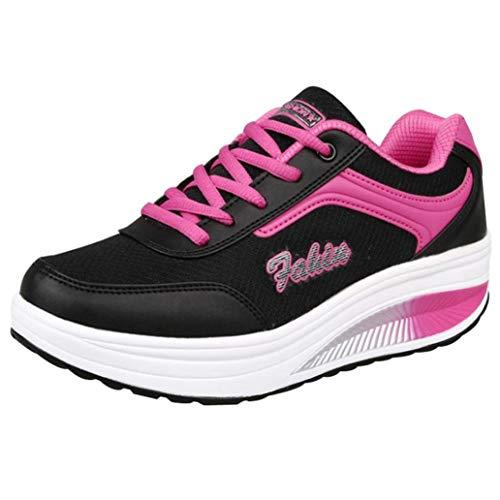 Scarpe moda da donna, sonnena scarpe da ginnastica a fondo morbido scarpe alte aumentate in mesh alla moda da donna scarpe a dondolo scarpe da trekking scarpe da viaggio