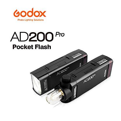 Godox Ad200pro Outdoor Flash Stobe 2,4 G TTL Speedlite Blitzlicht HSS Monolight mit 2900 mAh Lithium-Batterie 200WS und bloßem Glühlampen-Blitzkopf, um 500 Blitzlichter abzudecken Pro Monolights