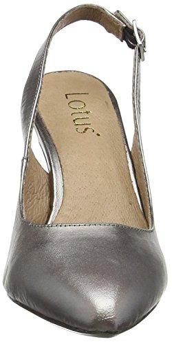 Lotus Gloss, Chaussures &Agrave Talons avec Bride &Agrave L&RsquoArri&EgraveRe Femme Argent - Silver (Pewter Pwt)