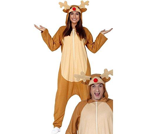 Guirma Costume Pigiama Renna Babbo Natale tutone Rudolph Uomo Donna