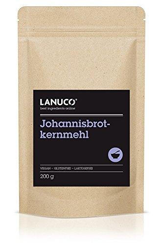 200g Johannisbrotkern Pulver – Johannisbrotkernmehl glutenfrei Verdickungsmittel, geschmacksneutral, 100% pflanlich und vegan