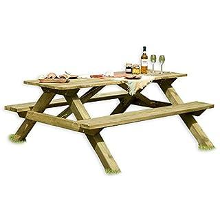 Gartenpirat Picknicktisch aus Holz/Biergartengarnitur Tegernsee