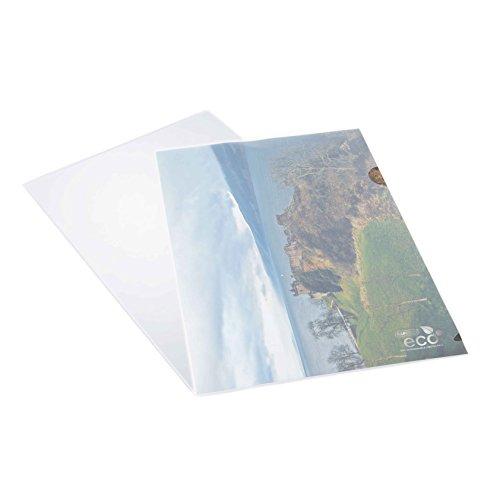 Rapesco Documentos - Portafolios transparentes, fabricado en materiales ecologicos, 25 unidades