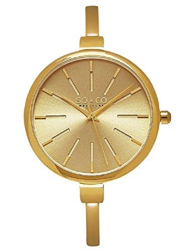 SO & CO New York 5297.Set.2 Damen-Armbanduhr Analog Edelstahl beschichtet