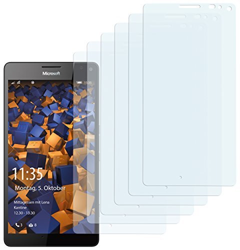 mumbi Schutzfolie kompatibel mit Microsoft Lumia 950 XL Folie klar, Bildschirmschutzfolie (6x)