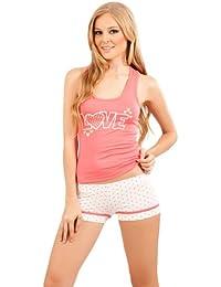 d2ef7c94f Adriana Arango Women s Matching Pyjama Set Racerback Top Patterned Shorts   7540