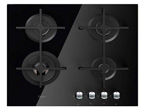 Whirlpool AKT 7000/NB plaque - plaques (Intégré, Gaz, Noir, Rotatif, En haut devant)