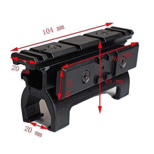 hongbest Picatinny Weaverer Rail 20mm Full Metal Riser Range Base di montaggio per Marui MP5 Hunting Accessories