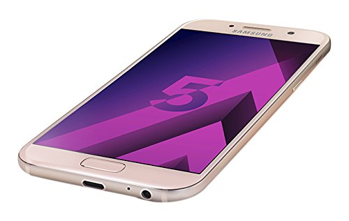 Samsung Galaxy A5 2017, Smartphone libre (5.2'', 3GB RAM, 32GB, 16MP/Versión francesa: No incluye Samsung Pay ni acceso a promociones Samsung Members), color Rosa