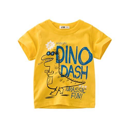 BURFLY Kleinkind Baby Kind Junge Baumwolle solide Polo t-Shirt Hemd Kleidung Boy Cartoon Druck Kurzarm t-Shirt -