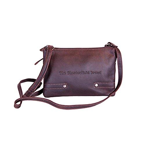 The Chesterfield Brand Sheffield Umhängetasche Leder 23 cm bruin