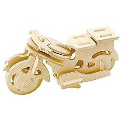 Lumanuby 1x Mode Fahrzeuge Holz Modellbau Kits von Vintage Auto, Sportwagen oder Motorrad Form, Laser-Cut 3D Puzzle Spielzeug für Herren und Jungen für Geburtstag Size 11.5x4.3x6cm (Stil C)