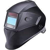 Casco de soldadura Tacklife PAH01D, casco de soldadura oscurecedor automático con 4 sensores de filtro de sombra independientes, gama de colores 9–13, paneles solares y clase de visibilidad óptica superior 1/1/1/1(6lentes reemplazables y mochila portátil incluida)