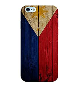Fuson Premium Back Case Cover Flag design With Multi Background Degined For Apple iPhone 6S