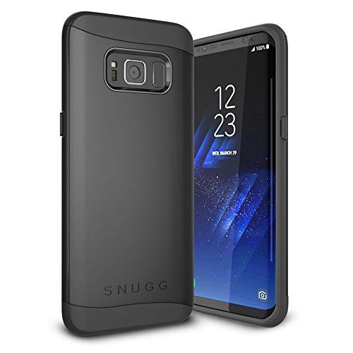 Funda Galaxy S8 Plus, Snugg Samsung Galaxy S8 Plus Case Slim Carcasa de Doble Capa [Infinity Series] Revestimiento con Protección Anti-Golpes - Negro