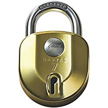 Godrej Navtal NXT Padlock (Brass) - 4 Keys
