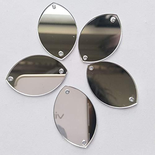 Sew auf Water Drop Form Spiegel Perlen, DIY verspiegelt strass für Kostüm Kleider Tuch Garment Dekoration Zubehör - Spiegel Kostüm