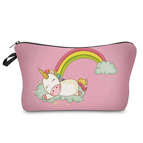 dde8deef4f AAA226, borsetta portatrucchi da donna con carino unicorno stampato,  Poliestere, 6#,