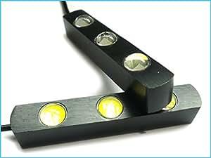 Kit Beacon Feux de jour LED DRL feux diurne 2 X 3 Puissance Led 12V