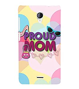 Proud Mom 3D Hard Polycarbonate Designer Back Case Cover for Micromax Canvas Unite 2 A106