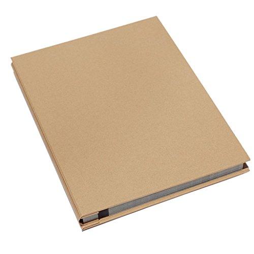 FOOHAO- Simple album photo d'affaires, bricolage fait à la main Scrapbook, couverture vierge auto-adhésif à l'intérieur de la page, 25 Pages (50 Surface) (Couleur : Black card)