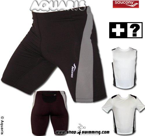 Herren Running Short Tight Saucony Elite - XL (Saucony-shorts)