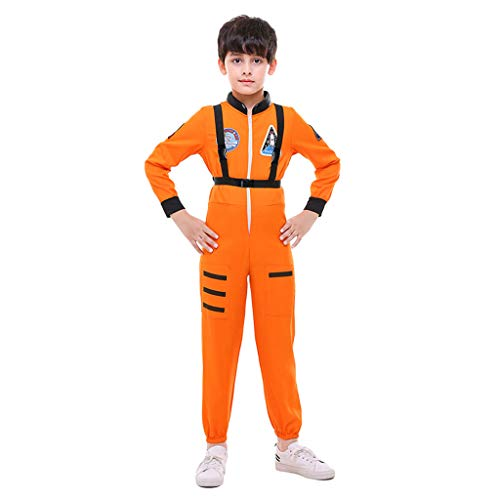 Orange Kostüm Astronaut Kind - sharprepublic Kinder Unisex Astronaut Halloween Kostüm Dress Up \u0026 Rollenspiel, Orange