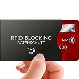 TÜV geprüfte RFID Blocking NFC Schutzhüllen (12 Stück) für Kreditkarte, Personalausweis, EC-Karte, Reisepass, Bankkarte, Ausweis - 100% Schutz gegen unerlaubtes Auslesen - NFC Kreditkarten Schutzhülle