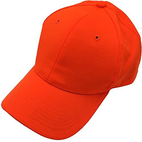 Waidmeister Original Jagdkappe in Orange mit 3M(TM) Scotchlite(TM) Reflexionsbeschichtung - Premium Outdoor Hunter Cap für Treibjagd Drückjagd - One Size & Quick Dry Kappe -
