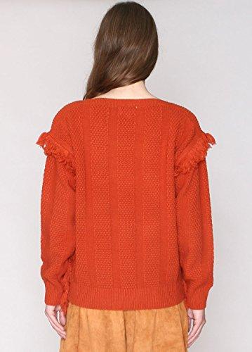Pepa Loves 107982, Pull Maternité Femme Orange (Rust)