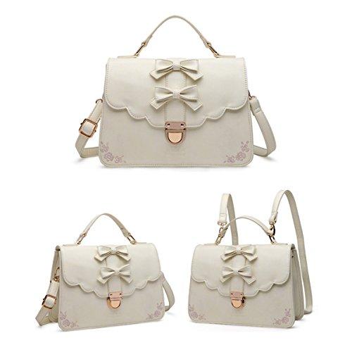 WU ZHI Frau PU Handtaschen Schultertasche Messenger Bags Pendler Taschen Handtaschen Pakete Beige