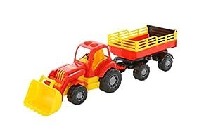 Polesie Polesie45034 Mighty - Tractor de Juguete con Remolque