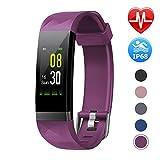 LETSCOM Fitness Armband mit Pulsmesser, Aktivitätstracker Schrittzähler Uhr Smartwatch 0,96 Zoll Farbbildschirm IP68 Wasserdicht und 14 Trainingsmodi, Anruf SMS Nachrichten für iOS...