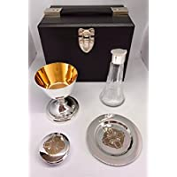Frank Wright Mundy & Co Ltd Celtic Four Piece Portable Communion Set with Glass Cruet