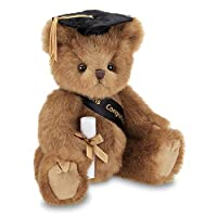 (Smarty Black Cap) - Bearington Smarty Class of 2019 Graduation Plush Stuffed Animal Teddy Bear in Black Cap, 25cm