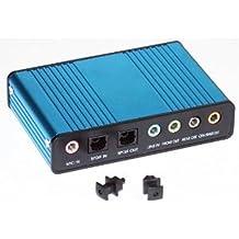 DIGIFLEX Tarjeta de sonido externa USB de 6 canales 5.1