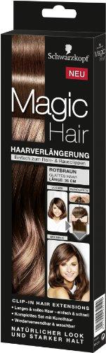 Schwarzkopf Magic Haarverlängerung Länge 35 cm, Rotbraun