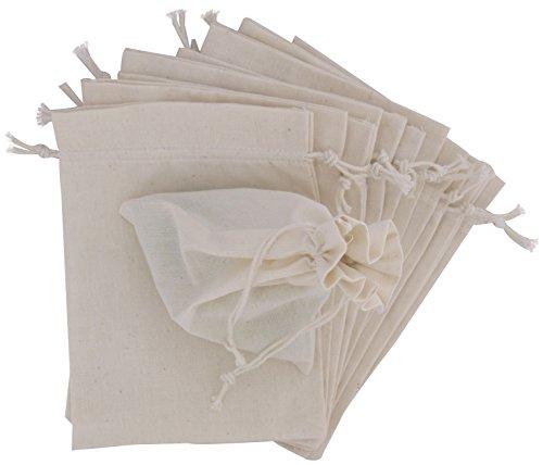 100 Prozent Baumwolle Beutel Mit Kordelzug, Stoffsack Mit Band Zum Zuziehen - Organisch Und Natürlich - (10x15, Weiss) (Mesh-cape)