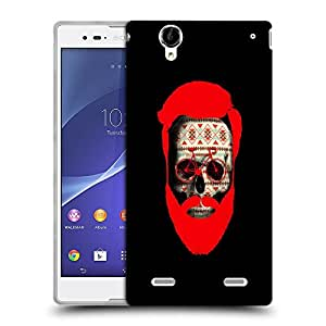 Snoogg Beard Skull Designer Protective Back Case Cover For SONY XPERIA T2 ULTRA