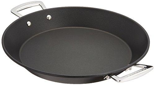Le Creuset - Paellera de Aluminio Antiadherente, 32 cm diámetro, Color Negro