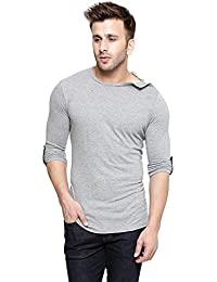 New Trendy Gespo Men'S Grey Solids Regular Fit Round Neck Long Sleeves T Shirt