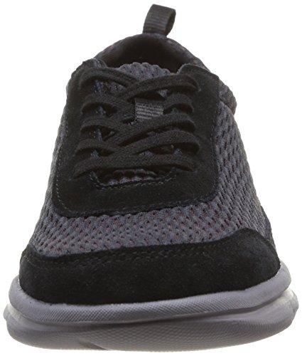 Rockport - Roa, Sneaker Donna Nero (Nero (Black Suede Wash))