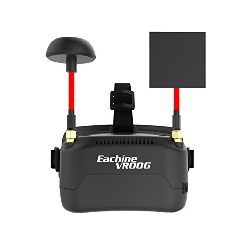 Eachine Mini FPV brille VR-006 3inch 500*300 Luxuriousness 5.8G 40CH Headset Prop up in 3.7V 500mAh Battery for Racing Drone Quadcopters FPV Goggles by Crazepony-UK