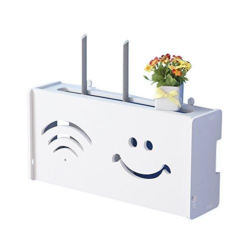 Whchiy WiFi Router Cajas Almacenamiento Estante Almacenamiento