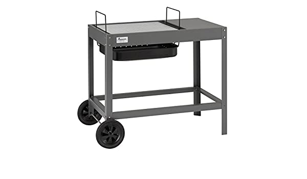 Landmann Holzkohlegrill Collection Nummer 1 : Landmann 11601 holzkohlegrill collection nummer 1 grillwagen silber