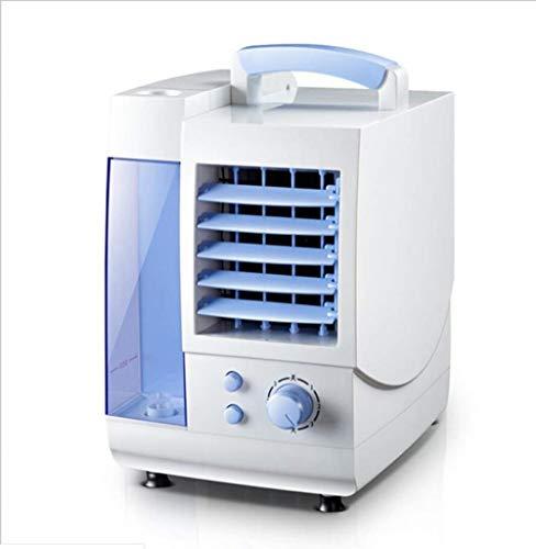 HELIn Mini-Klimaanlage, vollständig geöffneter Luftauslass, grüner Eisvorhang, unabhängiger Wassertank, Turbinenlufteinlass, Mini-Klimaanlage -