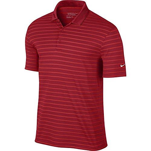 Nike Golf - Symbol Stripe Polo (University Red/Light Crimson/Weiß) S (Herren Golf-symbol)