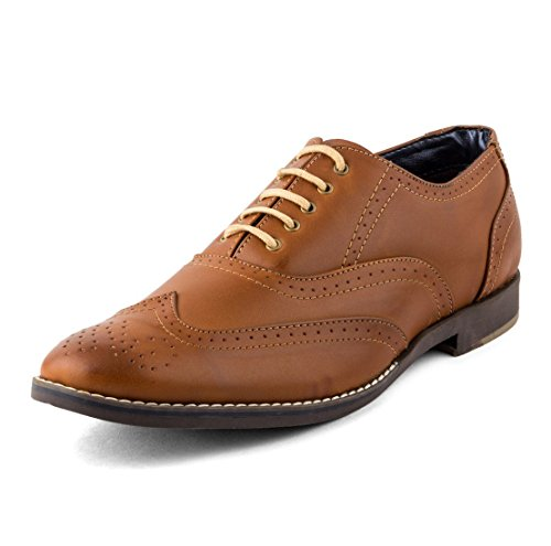 Rosso Italiano Men's Tan Faux Leather Formal Shoe (rif4405tn) 9